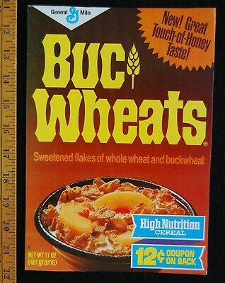 [ 1970s - 1980s BUCWheats / Buckwheat Vintage Cereal Box - Touch of Honey ]