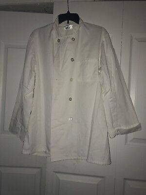 Chef Works White Large Chef Coat Jacket Long Sleeve Cook