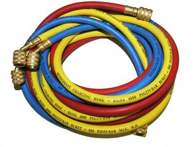 Air Conditioning & Refrigeration 96'' 243Cm Charging Hoses 5/16'' X 5/16'' R410A