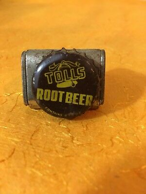 Tolls Root Beer soda pop bottle crown cap cork lined
