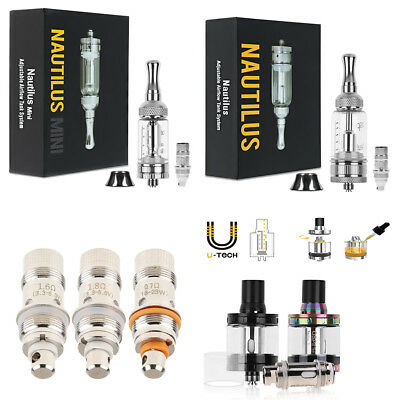 For ASPIRE NAUTILUS Mini 2ML / 5ML BVC Coil & Tank with Adjustable Air Hole UK