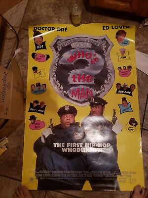 Who's The Man Ds  Orig 1Sh Movie Poster Doctor Dre Ed Lover Ice-T (1993)