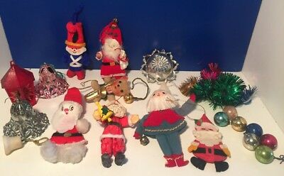 Vintage Mixed Christmas Ornaments And Christmas Decor Lot Bradford Diorama More