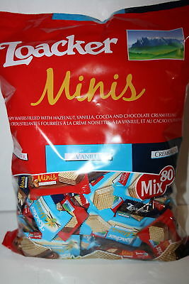 Loacker Minis Wafer Mix Three Flavors Vanilla NapoliTanner Cremkakao, 800g 80mix