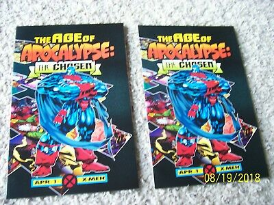 2 Issues 1995 Marvel Comics The Age Of Apocalypse: The Chosen #1 NM- 9.2 X-Men