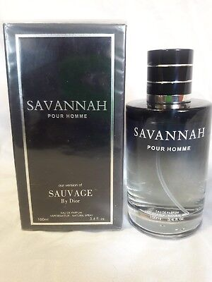 SAVANNAH Men EDP Spray Inspired by SAUVAGE BY CHRISTIAN DIOR 3.4 fl.oz.