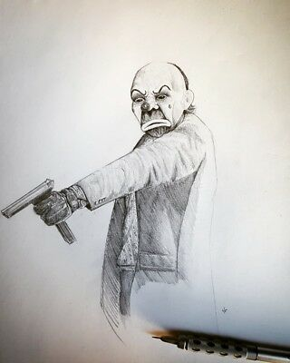 The Dark Knight- Joker Drawing (Original Art)