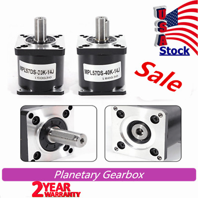 57mm Planetary Gearbox NEMA23 Speed Reducer 40:1 Geared Stepper Motor Durable