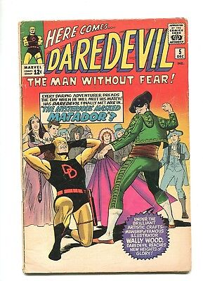 Daredevil marvel comic Silver Age # 5 1st new Logo wally wood art