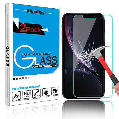 Premium 9H Tempered Glass Screen Protector Film Saver For Apple iPhone XS Max/XR