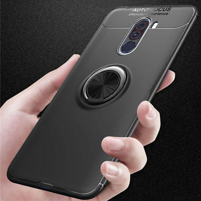 For Xiaomi Pocophone F1 Phone case Ring Holder Soft Matte Silicone Back Cover /