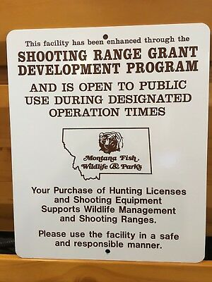 Montana  Fish, Wildlife, And Parks  Shooting Range Sign With Fwp Logo