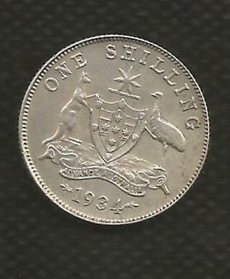 1934 Shilling - George V - Eight Pearls - Extremely Fine Condition - Lustre