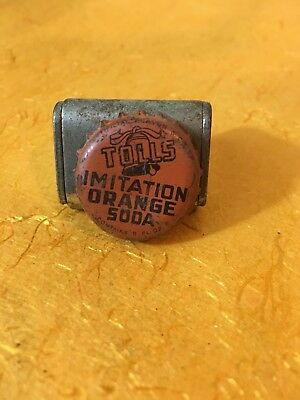 Tolls Imitation Orange Soda pop bottle crown cap Los Angeles California CA
