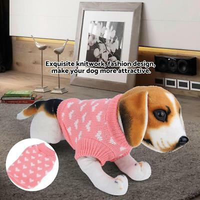 1Pc Pet Dog Pink Warm Knitwear Sweater Lovely Cat Puppy Coat Clothes for Winter