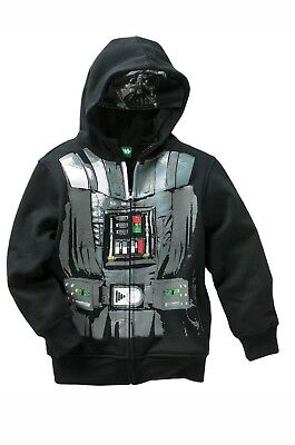 Star Wars Youth Boy's Darth Vader Hoodie Jacket Black Zip-up Size Medium NWT