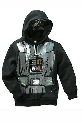 Star Wars Youth Boy's Darth Vader Hoodie Jacket Black Zip-up Size X-Small NWT