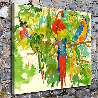 "16""x20"" Parrot HD Canvas Prints Painting Home Room Decor Picture Wall Art Poster"