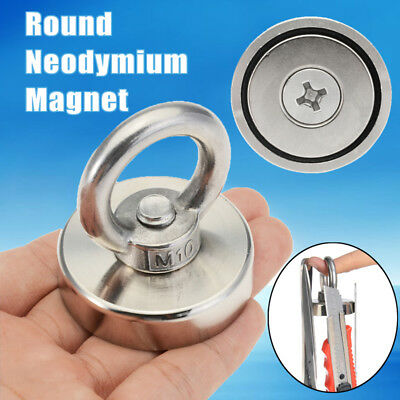 14-330KG Strong Power Clamping Magnet Hook and Eyebolt 25-90mm Neodymium Ring