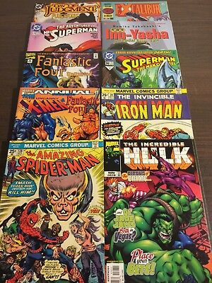 Comic Book Lot, 10 Books, Amazing Spider-man #138, Hulk, Iron-Man, Superman, FF