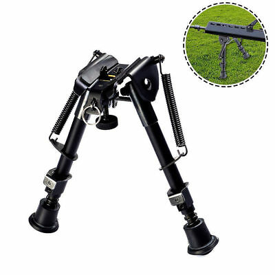 Rotating 6-9 Inch Foldable Bipod Adaptor Weaver Rail For Pistol Hunting Black AU