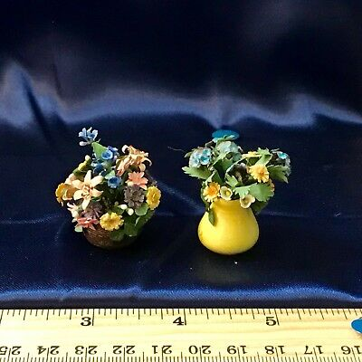 Dollhouse Miniature(1:12). ARTISAN Dated/Signed FLORAL ARRANGEMENT Lot