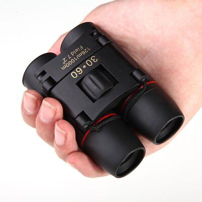 Zoom Day Night Vision 30x60 Binoculars Outdoor Travel Folding Telescope with Bag