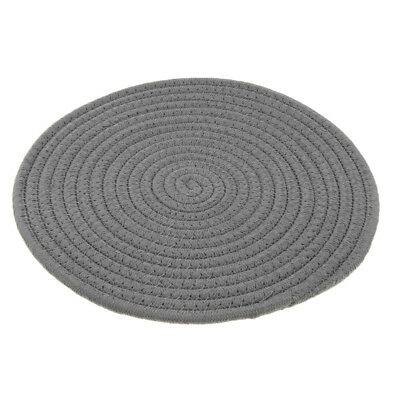 30cm Simple Round Cotton Braided Woven Table Placemat Mat Coaster Washable