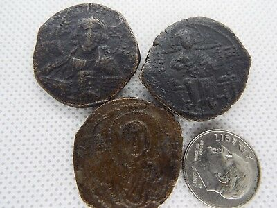 57-3 lot 3pcs Anonymous Follis - Ancient Byzantine Bronze Coin JESUS CHRIST