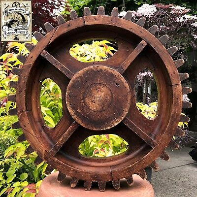Antique 1890s Rare Original Industrial Machinery Wood Gear Mold Foundry Pattern!