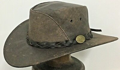 Kangaroo leather hat ON SALE great western outback cowboy style Australian made
