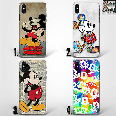 Mickey Mouse Cute Vintage Cartoons Thin Uv Case Cover For Iphone