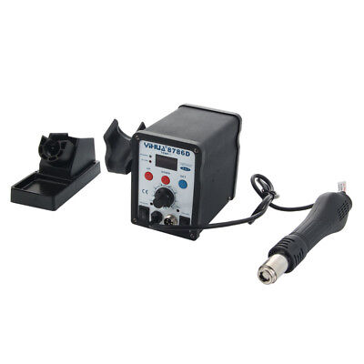 YIHUA 8786D 2in1 SMD Soldering Iron Hot Air Rework Station Desoldering Repair