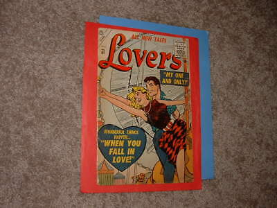 1956 Atlas Lovers 81 Colletta Pike Hartley Art Solid Good + Free Shipping