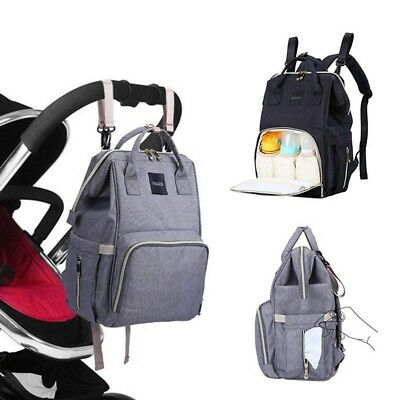 Oxford Baby Diaper Nappy Bag Backpack for Mom Dad Organizer Pouch & Changing Pad