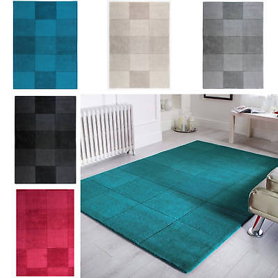 Flair Rugs Oakland Wool Squares Modern Contemporary Squared Pattern Rug