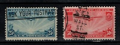 United States 1935 Trans Pacific Air Mail SG A776-77 Scott C21-22 Used