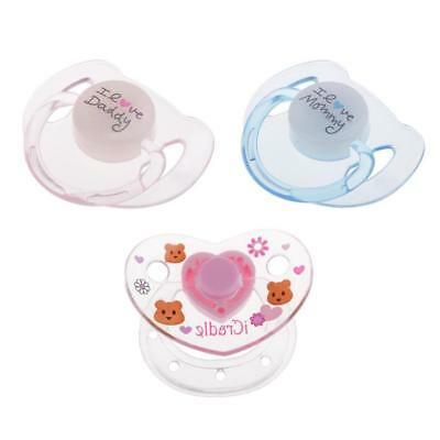 ABS Plastic Dummy Pacifier Reborn Magnetic Pacifier Baby Doll Supplies 3 Pcs