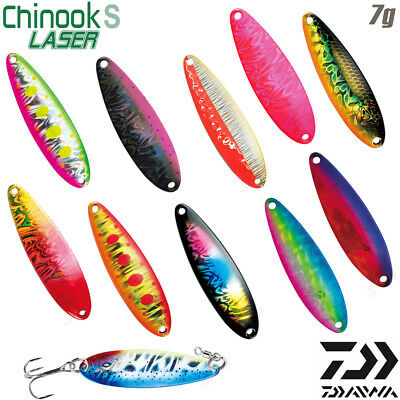 Daiwa CHINOOK S LASER 7 g Trout Spoon Assorted Colors