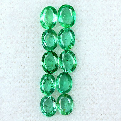 1.91 Cts Natural Top Green Emerald Loose Lovely Gemstone Oval Cut Lot Zambia $