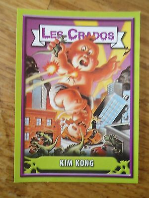 Image * Les CRADOS 3 N°69 * 2004 album card Sticker FRANCE Garbage Pail Kid