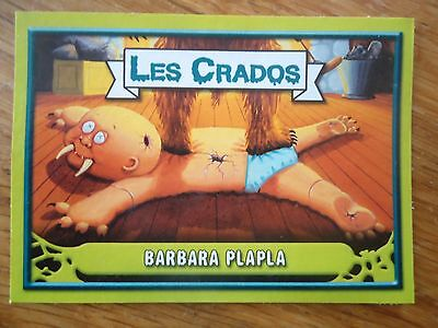 Image * Les CRADOS 3 N°96 * 2004 album card Sticker FRANCE Garbage Pail Kid