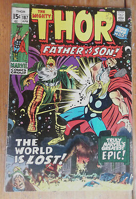 The Mighty Thor 187 Marvel comics 1971 VG/FN (?) cents copy