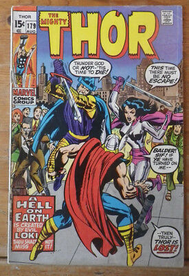 The Mighty Thor 179 Marvel comics 1971 VG+ (?) cents copy
