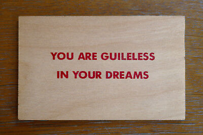 JENNY HOLZER, You are guileless, FIRST EDITION 1994