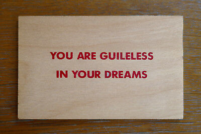 JENNY HOLZER, You are guileless in your dreams, Multiple 1994