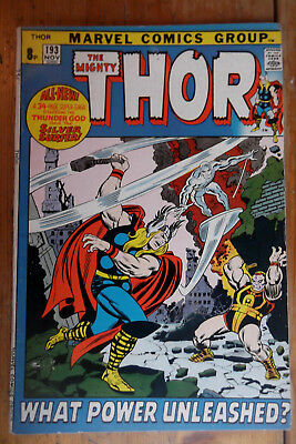 The Mighty Thor 193 Marvel comics 1971 FN- (?) pence copy