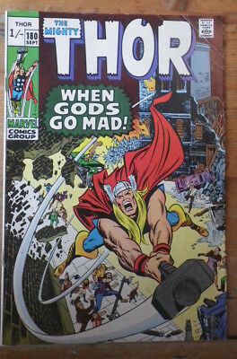 The Mighty Thor 180 Marvel comics 1970 VG/FN (?) pence copy