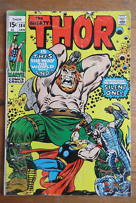 The Mighty Thor 184 Marvel comics 1971 VG+ (?) cents copy