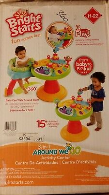 #LAST ONE# *BRAND NEW* BRIGHT STARTS Around We Go 3 in 1 Activity Center